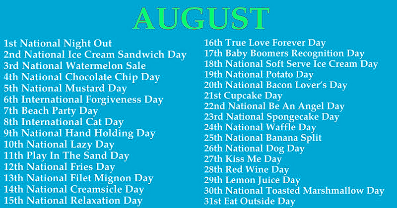 What Odd, Strange Holiday Falls On Your Birthday?