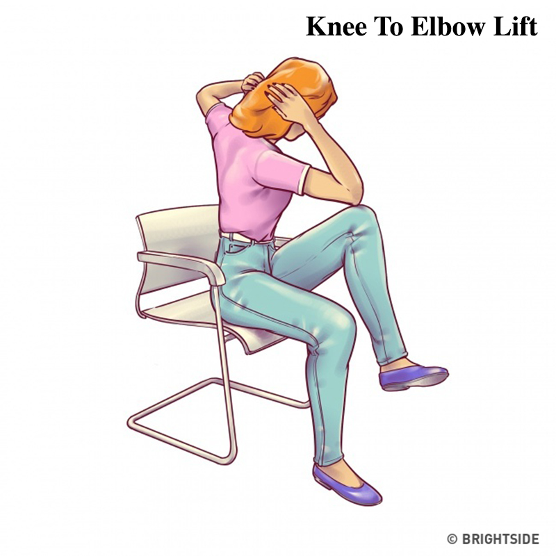 6 Exercises For A Flat Belly That You Can Do Right In A Chair