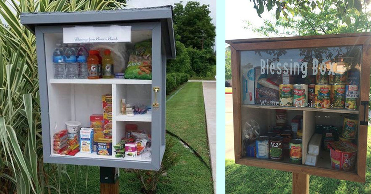 A Little Free Pantry Invites People To Leave Goods For